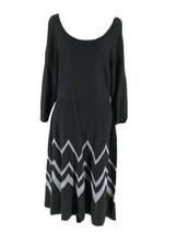 Connected Apparel Women's Black Long Sleeve Scoop Neck Sweater Dress Siz... - $14.85