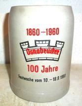 1960 Osnabrucker Brauerei Osnabruck 100 Years Fire Department German Bee... - $14.95