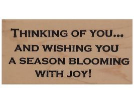 Worth Repeating Holiday Sentiment Wood Mounted Rubber Stamp