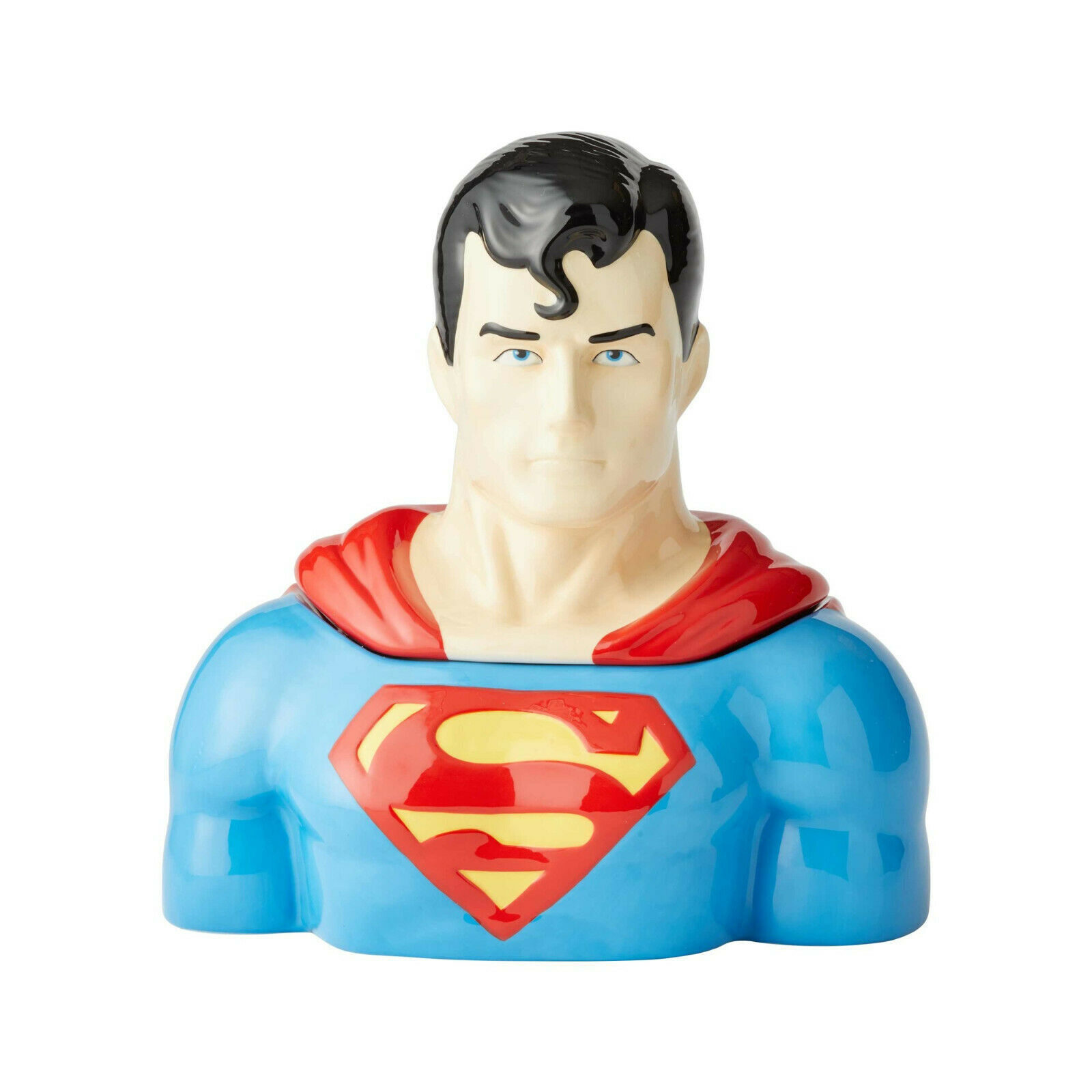 "10.5"" High DC Comic Superman Cookie Jar Stoneware"