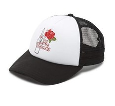 Vans Men's/Women's No Thank You Roses Adjustable Snap-Back Hat White/Bla... - $34.58