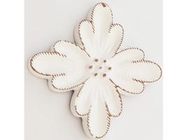 Decorative White Wood Plaque #1799469