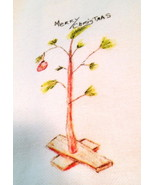 Merry Christmas Charlie Brown Tree Towel by French Graffitti-Holiday - $11.57