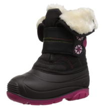 Kamik small kids Frostline Snow Boot size 10 black/rose - $39.27
