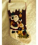 """Christmas Holiday Stocking Santa Sparkling New 19"""" Long - $11.46"""