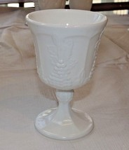 "Milk Glass Wine Goblet 3.5"" Wide X 5.25"" Tall Grape Pattern Vintage ~ - $29.69"