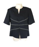 Henry Lee Top Shirt Women Petite Size 6P Black Vintage Career Work Short... - $12.86