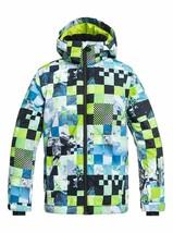 Quiksilver Jungen Mission Bedruckt Jugend Schnee Jacke 16Y Grün - $91.96