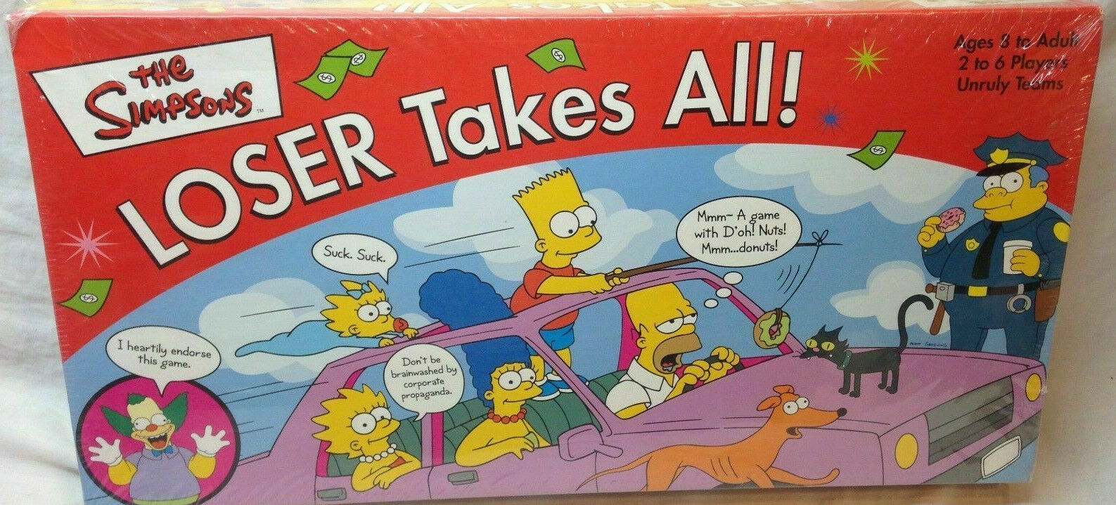 Primary image for THE SIMPSONS Loser Takes All! Party Board Game 2001 BRAND NEW