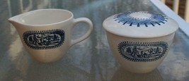 Currier & Ives Sugar & Creamer MIB Unused by Knowles China Co - $20.90
