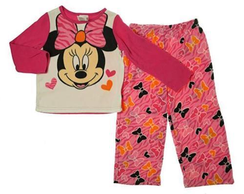 4T Toddler Girl's Disney Minnie Mouse Pajamas Plush Pajama Sleep Set Sleepwear