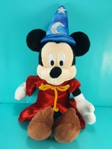"Sorcerer Mickey Mouse Plush Stuffed Animal 13"" Disney Parks Fantasia Red... - $12.86"