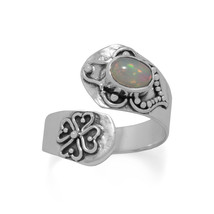 Sterling Silver Wrap Band Ethiopian Opal Ring - €55,06 EUR