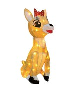 Rudolph Movie Lighted Clarice Reindeer Sculpture Outdoor Christmas Decor... - $83.65