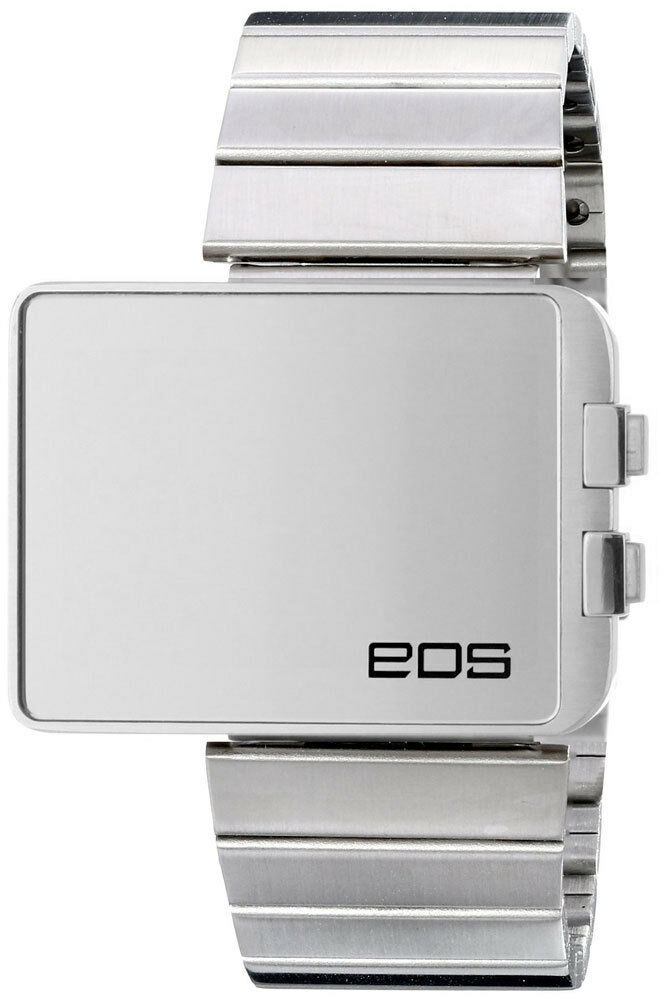 EOS LED362SSIL Mirrored Digital LED Stainless Steel Watch