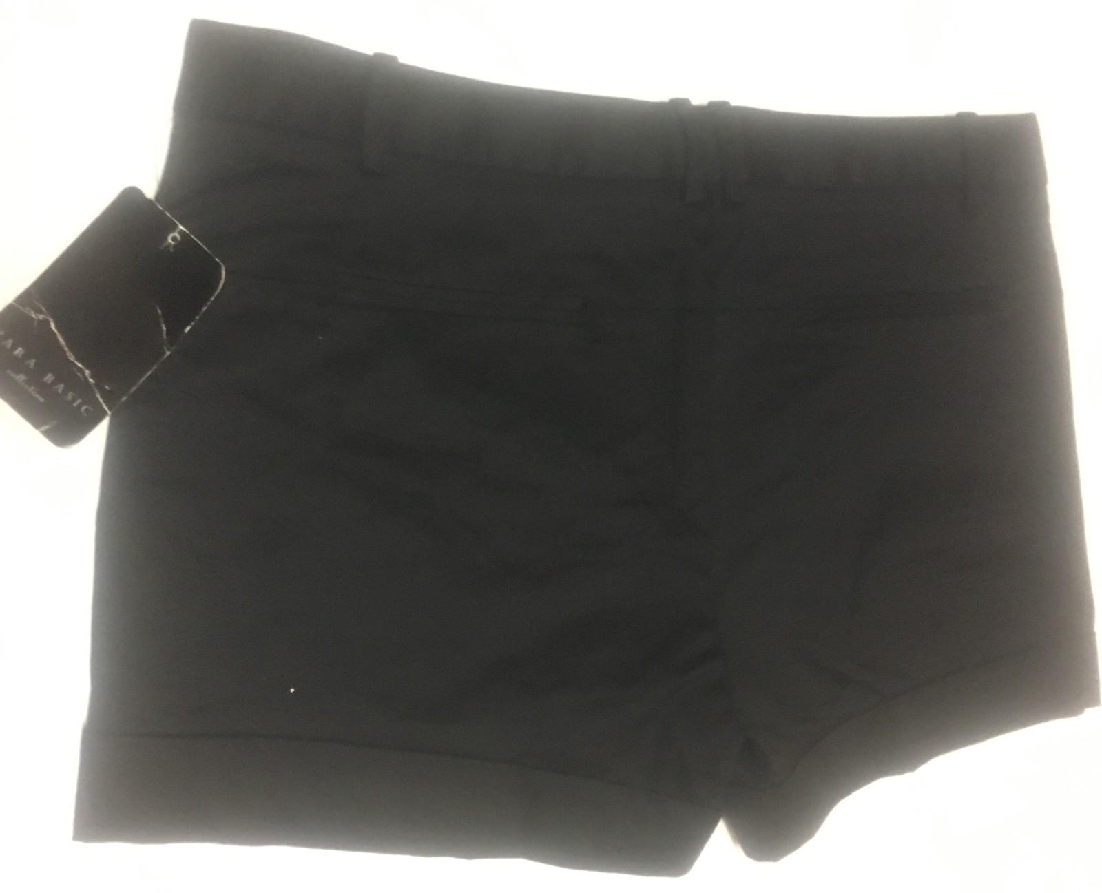 Zara Basic Women's Short Shorts Black Sz L (32/34 W)