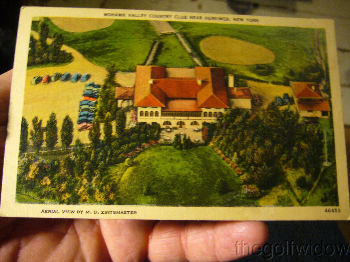 Vintage Golf Postcard Mohawk Valley Country Herkimer NY