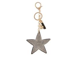 Star Faux Suede Tassel Stuffed Pillow Key Chain Handbag Charm - $12.95
