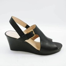 Cole Haan Womens Philomina Sandal Wedge Heels Shoes Black Buckle 8 B New - $39.33