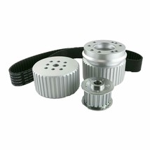 Ford BB Big Block 429-460 Gilmer Style Pulley Kit (SILVER)