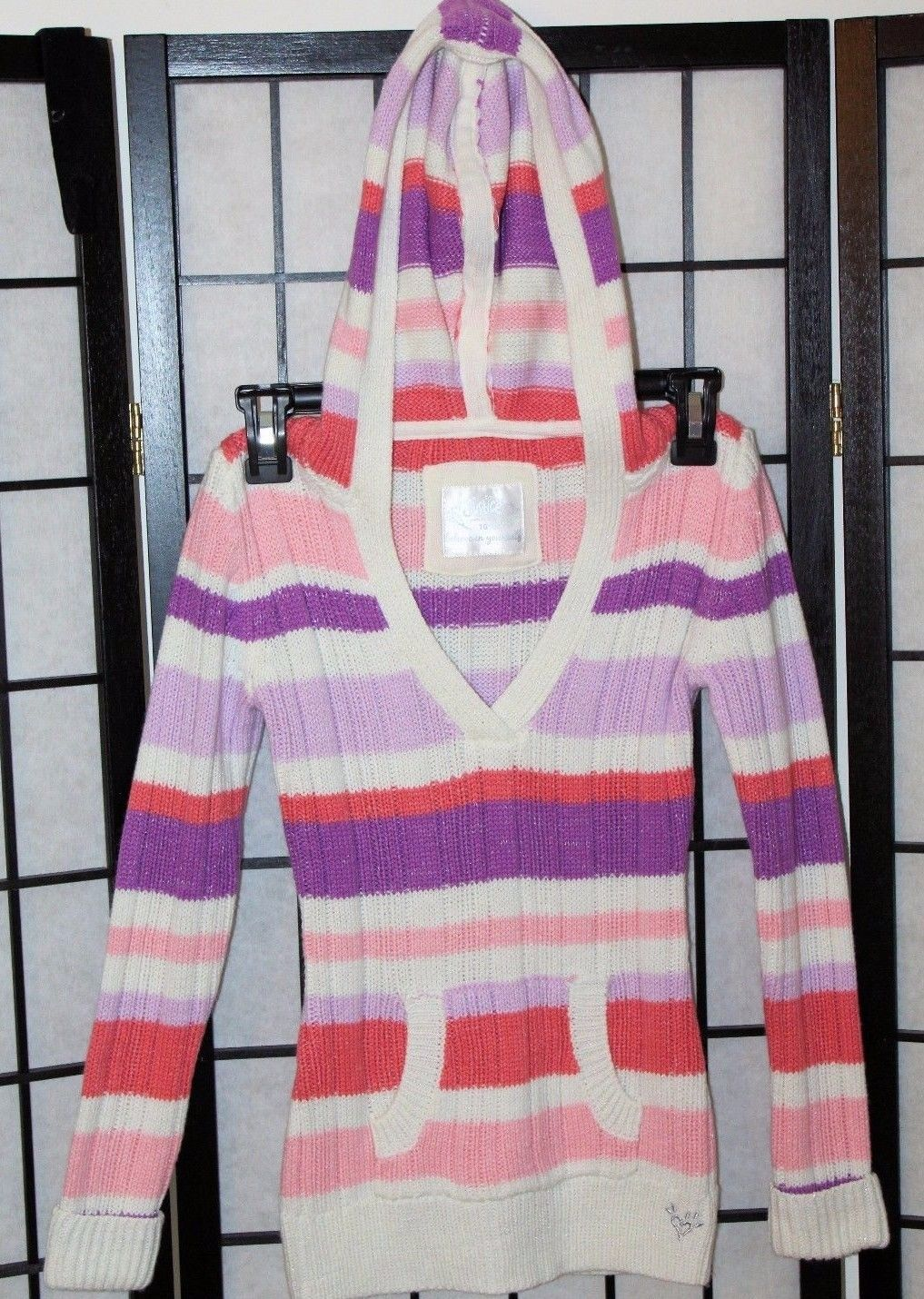 1583b9dccc7 JUSTICE Girl s Size 10 Striped Hooded and 50 similar items