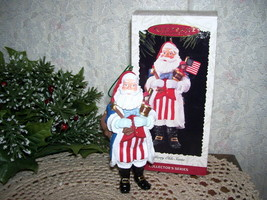 HALLMARK ORNAMENT MERRY OLDE SANTA 1996 PATRIOTIC #7 - $15.98