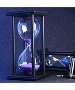 30/60 Minutes Hourglass Sand Timer Kitchen School Modern Wooden Hour Gla... - $73.84+