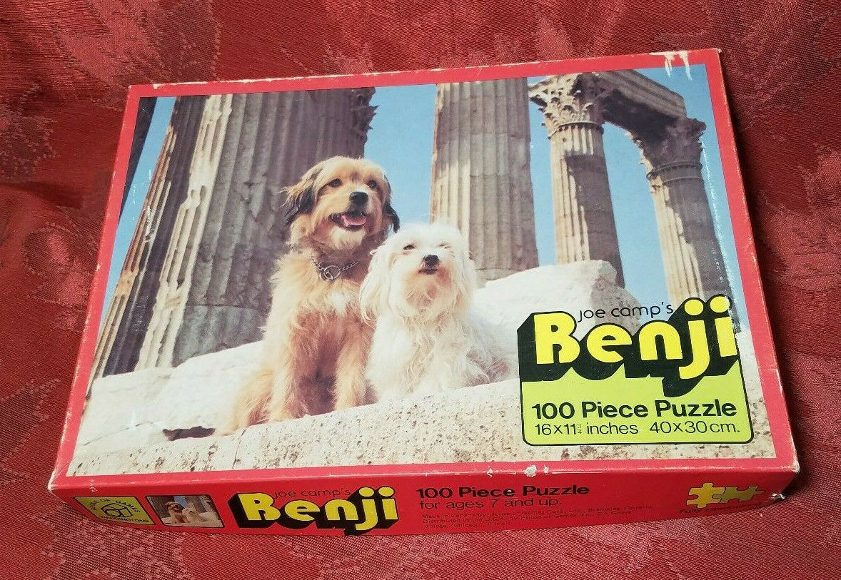 Vintage Joe Camps Benji Jigsaw Puzzle 100pcs House of Games