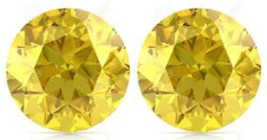 2 SAPPHIRES CANARY YELLOW ROUND LOOSE 2.50 MM. DIAMOND-SPARKLING HARDNESS 9 - $5.99