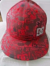 DC Shoes Red Black New Era 59Fifty Size 7 3/8  Baseball Cap Hat! - $17.37