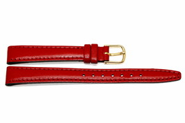 Timex 12MM Red Stitched CLIK-ON Genuine Leather Watch Band Strap - $4.94