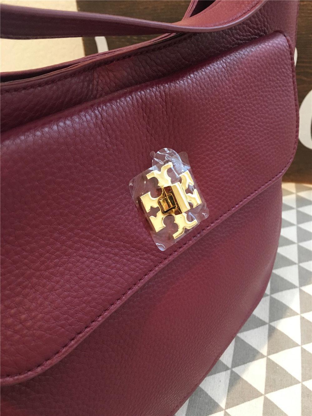 566ad27e8c38 Tory Burch Mercer Slouchy Hobo Shiraz Leather Handbag 31386-517