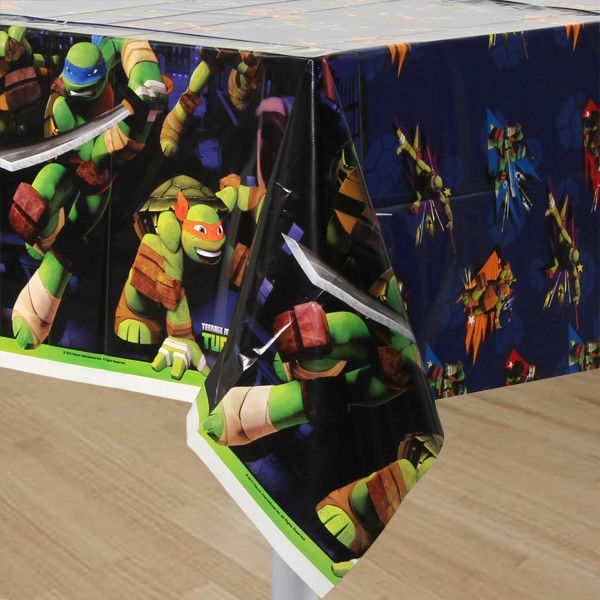 Teenage Mutant Ninja Turtles Tablecover Plastic Party TMNT Border Print
