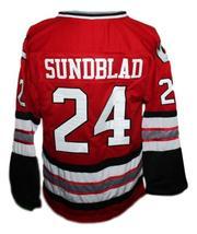 Custom Name # Kansas City Blades Retro Hockey Jersey New Red Any Size image 2
