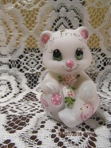 "FENTON GLASS FGS EXCLUSIVE ""HELLO FRIENDS"" BEAR FIGURINE LMT ED #5/9 - $149.99"