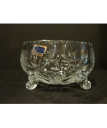 Lausitzer Crystal 3-Footed Bowl German Democratic Republic - 24% Lead Cr... - $30.00