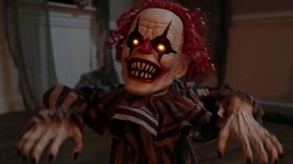Jumping Clown Prop Animated Lunging Haunted House Halloween Decoration F... - $84.90