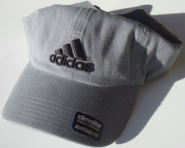 NEW! Steel Grey-Black adidas Men's Fit CLIMALITE GO-TO Adjustable Day Cap - $39.48