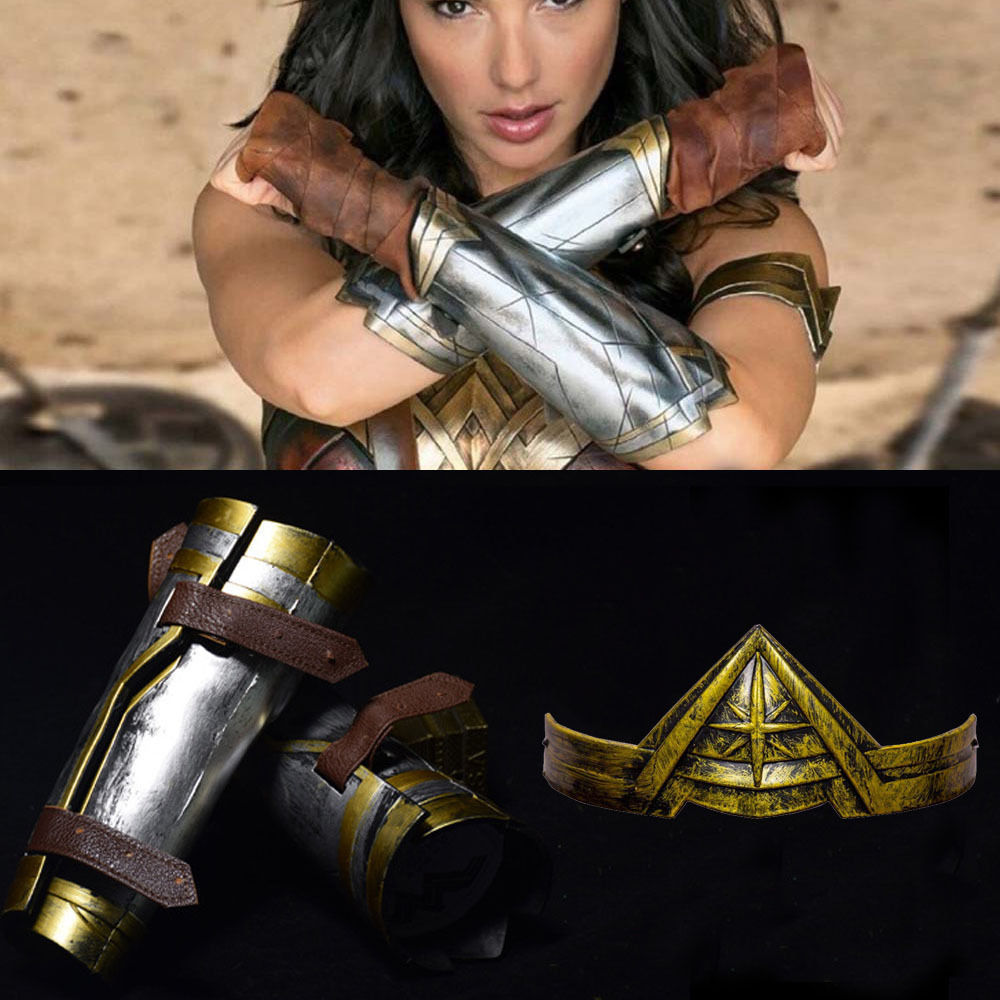 Primary image for Wonder Woman Princess Diana Prince Cosplay Armband Gauntlets / Headband