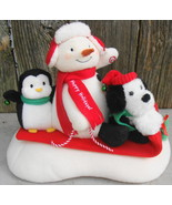 Hallmark 2007 SNOW WHAT FUN SLEDDERS Jingle Pals Plush Musical Movement ... - $20.00