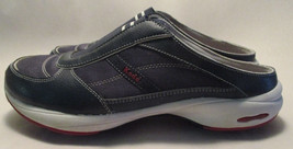 """Keds """"Savvy Mule"""" Womens 8.5 M Navy Blue Leather Padded Slip On Non-Skid... - $19.78"""