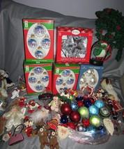80+ Assorted Christmas Holiday Snowman Santa Ornaments, Decor, Sleigh Bell - $44.54
