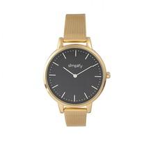 Simplify The 5800 Mesh Bracelet Watch - Gold/Black - £124.22 GBP