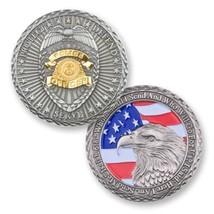 "Police Officer Policeman Flag Eagle Protect Defend Serve 1.75"" Challenge Coin - $17.09"