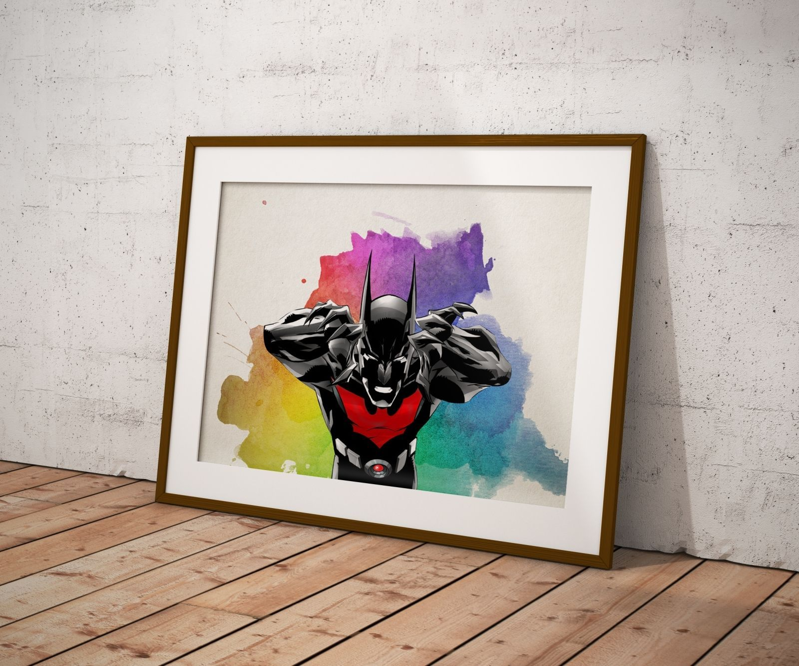 Batman poster wall decor watercolor art justice league poster gift batman poster wall decor watercolor art justice league poster gift n6 amipublicfo Image collections