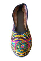 Women Shoes Indian Handmade Traditional Leather Flip-Flops Mojari US 7  - £23.13 GBP