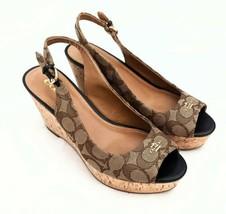 Coach Ferry Peep Toe Slingback Shoes Size 7.5 EXCELLENT CONDITION - $64.65