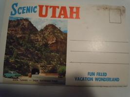 Vintage Scenic Utah Fun Filled Vacation Wonderland Fold Out Postcard 1950's - $6.99