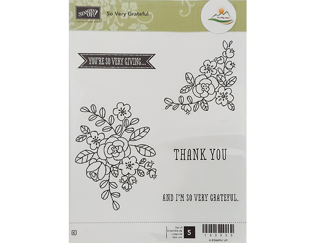 Stampin' Up! So Very Grateful Rubber Cling Stamp Set #133053