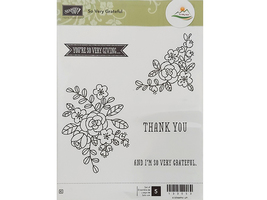 Stampin' Up! So Very Grateful Rubber Cling Stamp Set #133053 image 1